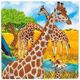 Gentle Giraffe Crystal Art Card Kit